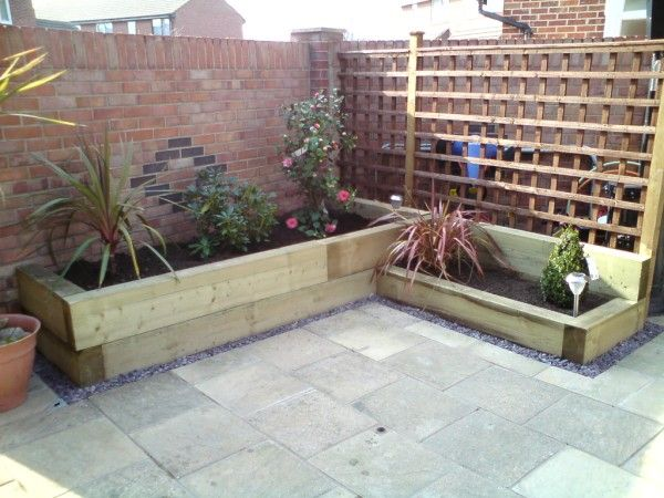 Raised Garden Bed For Corner Of Courtyard - But Not As High