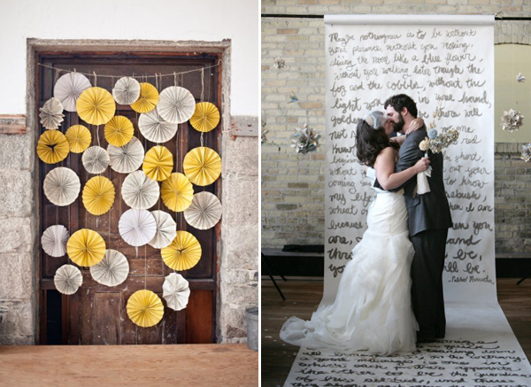 Some Simple Paper Pinwheels In A Pretty Color Scheme Make Great Backdrop For Photobooths