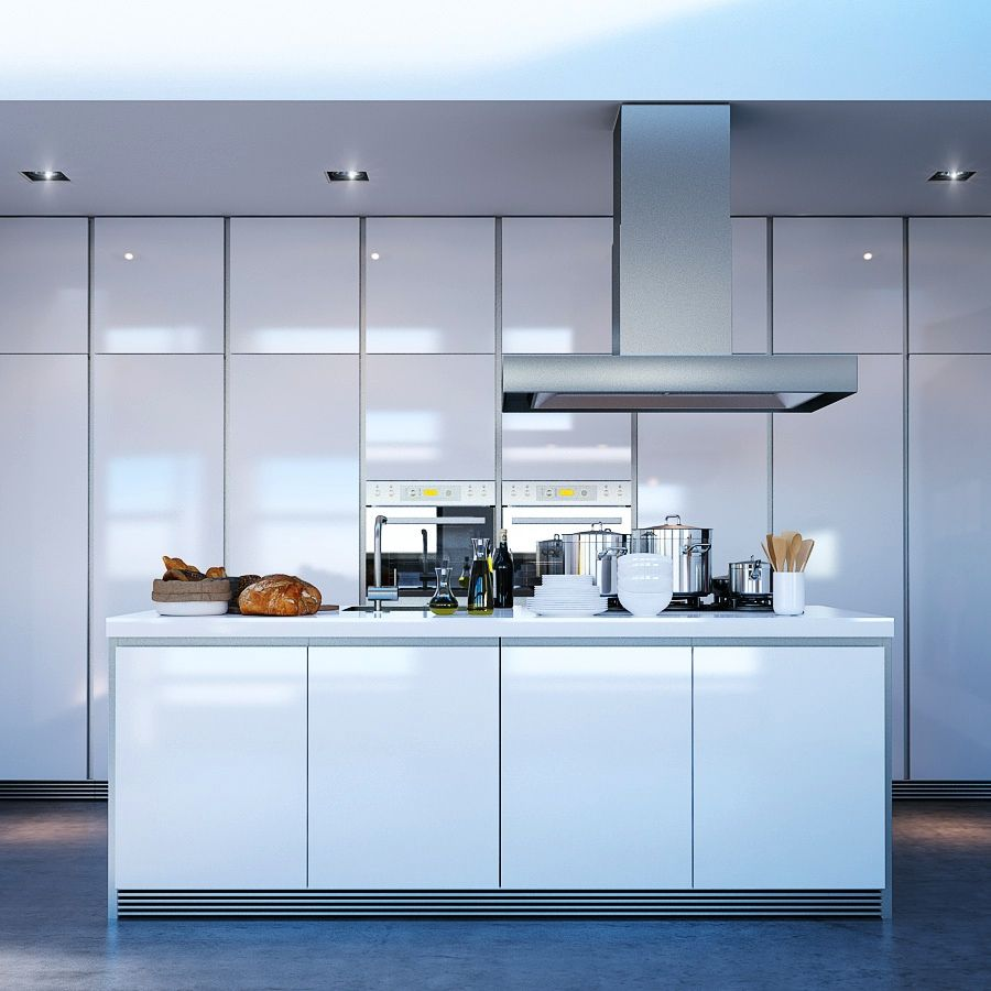 Modern Kitchen Ideas With White Cabinets: Kitchen Designs, Contemporary White Kitchen: Wonderful