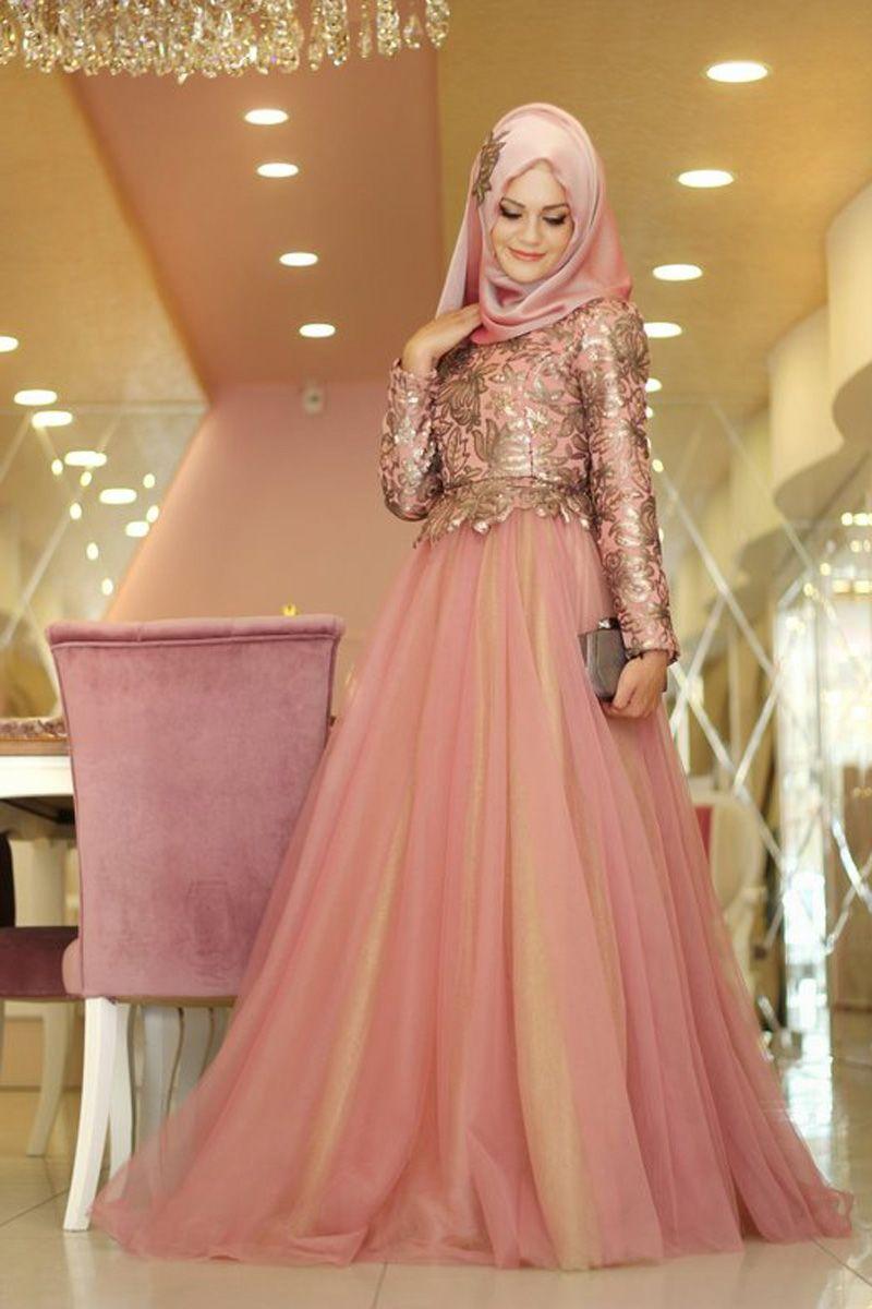 Gamze polat eliz abiye pembe prom dresses pinterest muslim