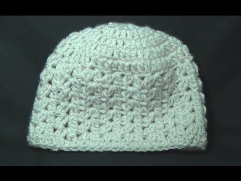 5152a60607f78 12 13 I made this last night and it came out so nice! The video tutorial is  so easy to follow. Cluster V Stitch Hat Crochet Tutorial - YouTube