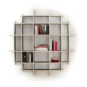 Big Jim 150 Plywood Shelf Bookcase Rundes Regal Regal Wandregal