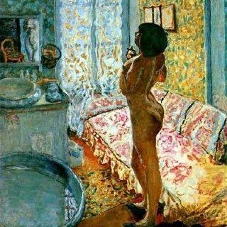 Pierre Bonnard, Naakt in tegenlicht, 1908, olieverf op doek, 125 x 109 cm, Koninklijke musea voor kunst en geschiedenis, Brussel. Biografie Bonnard: http://www.artsalonholland.nl/grote-meesters-kunstgeschiedenis/pierre-bonnard