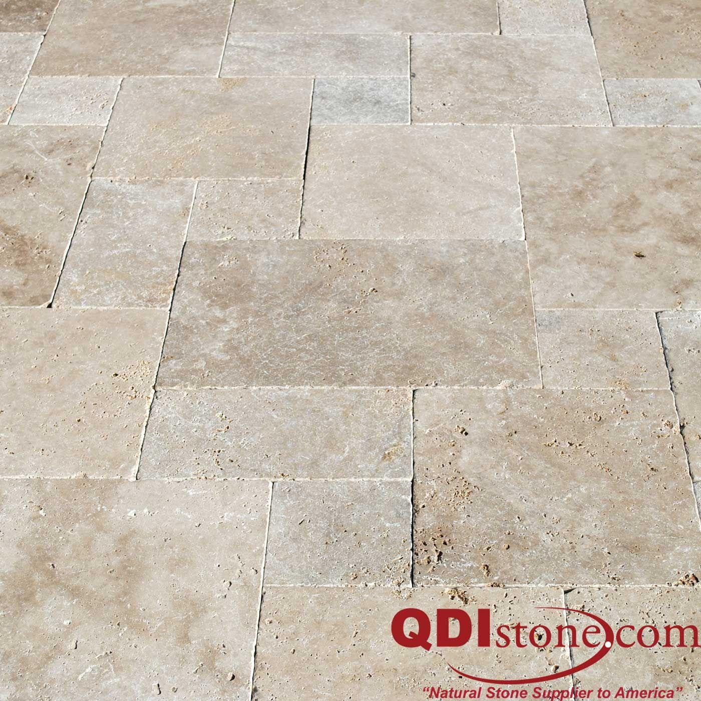 QDI Stone - Aski Calhe Travertine Tumbled Pavers Versailles Pattern ...