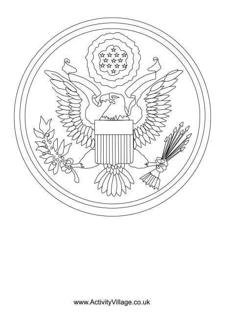 Great Seal Of The Us Colouring Page Coloring Pages Us History