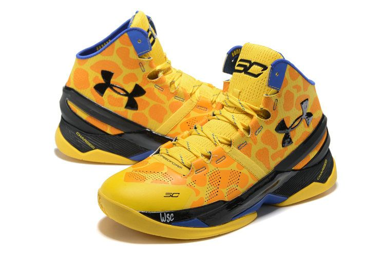 Curry 2 Two Bright Yellow Black Blue PE