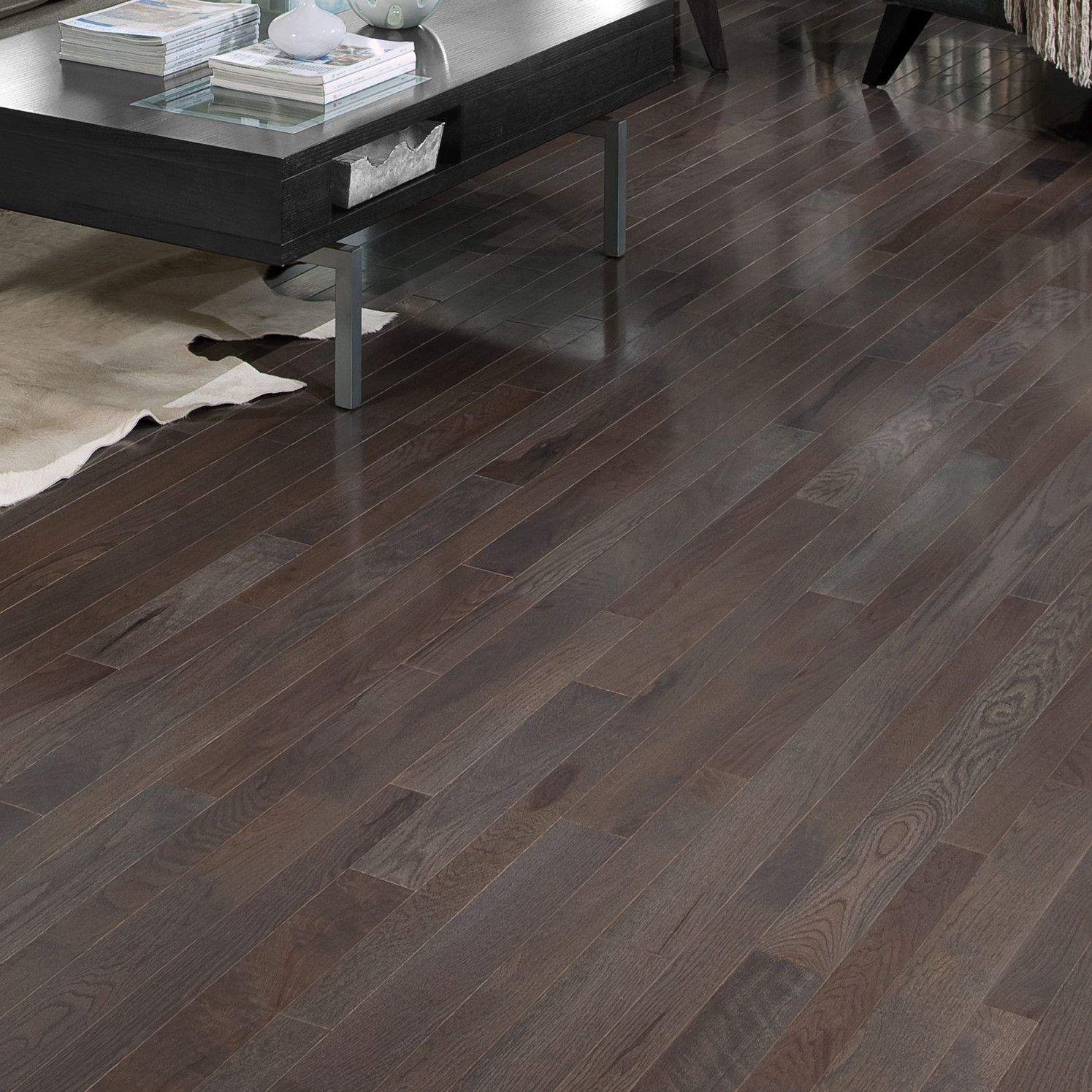 Somerset Floors Homestyle 2 1 4 Quot Solid White Oak Hardwood Flooring In Charcoal White Oak Hardwood Floors Solid Hardwood Floors Oak Hardwood Flooring