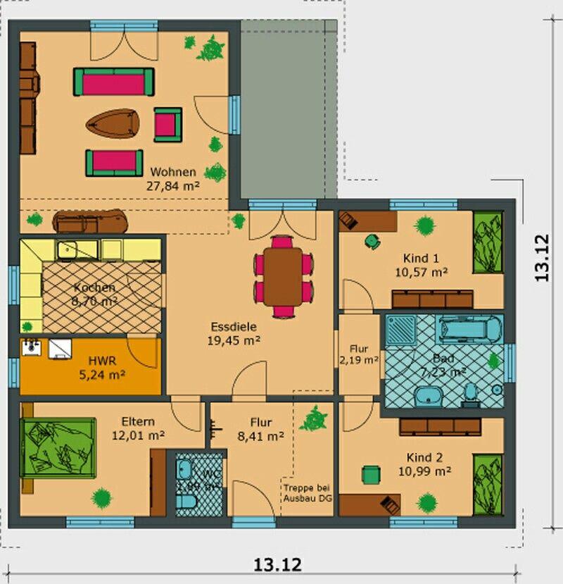 Bungalow 116 qm Haus bauen, Grundriss, Zukünftiges haus