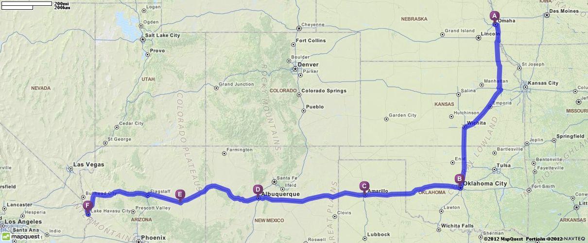 Mapquest Arizona.Driving Directions From Omaha Nebraska To Lake Havasu City Arizona