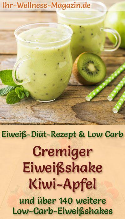 29+ Kiwi Apfel Eiweißshake   Low Carb Eiweiß Diät Rezept