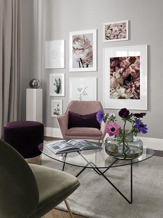 Seite 3 - Inspiration für schöne Wohnzimmer Bilderwand mit Postern | Desenio #deseniobilderwand