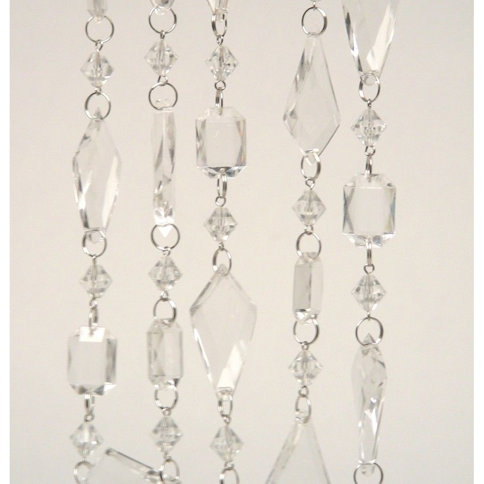 Beaded Acrylic Chandelier Garland Hanging Crystals - Acrylic chandelier crystals bulk