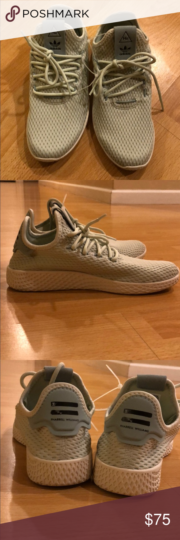 de41b7bf369a7 Adidas X Pharrell Williams tennis Hu Adidas tennis hu. Mint color. Brand  new without box. Women s size 7 but it s a size 5 for men.