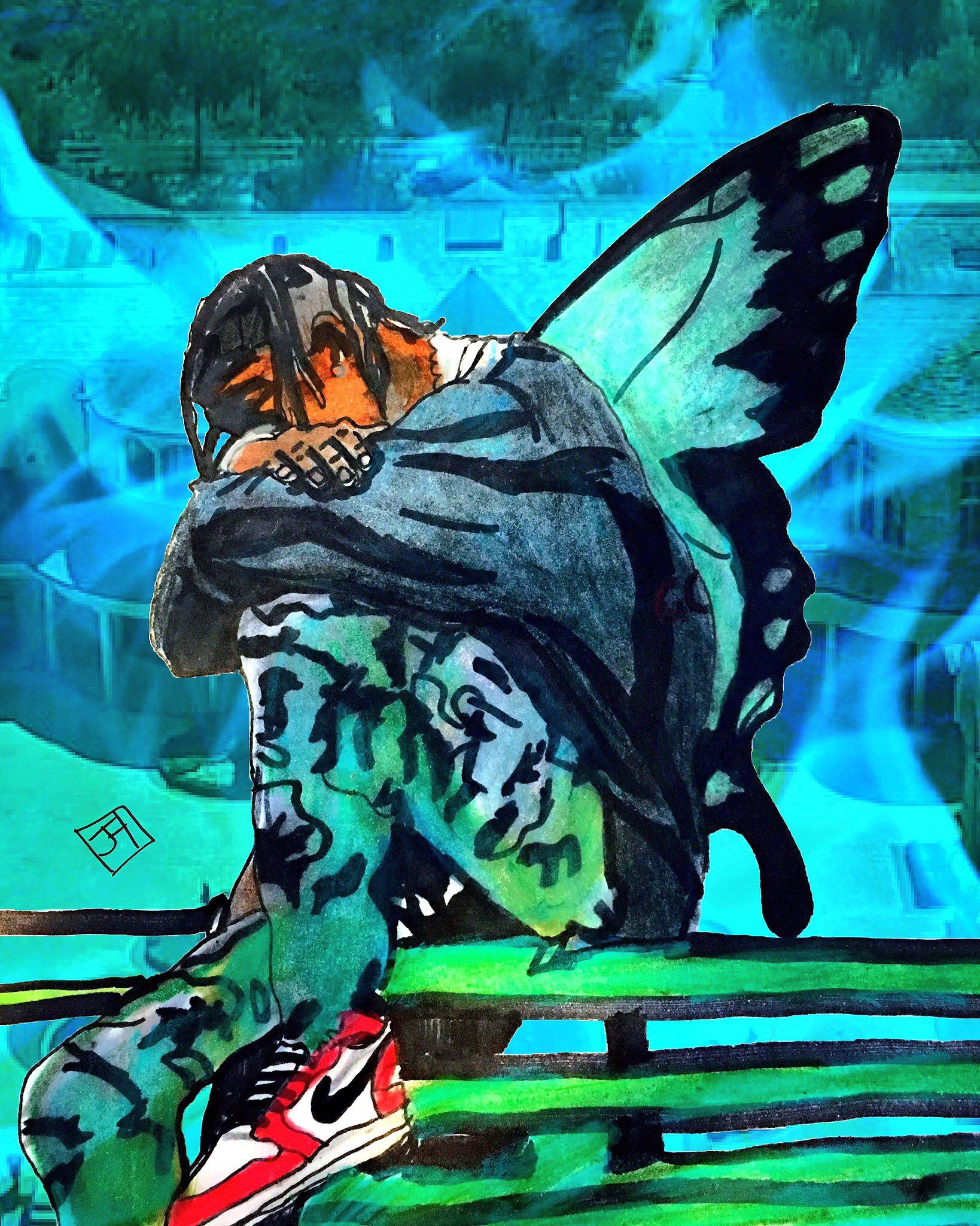 For This Life I Cannot Change Hidden Hills Deep Off In The Mains Travis Scott Butterfly Effect Travis Scott Wallpapers