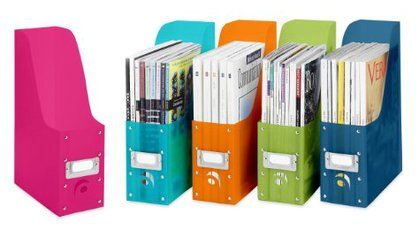 Whitmor Magazine Organizer (Set of 5), Assorted | Free Shipping