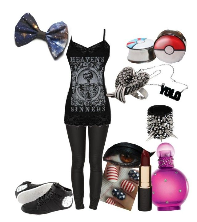 """""""i don't need the heaven"""" by redrumronnie ❤ liked on Polyvore featuring moda, Ksubi, Britney Spears, Mimco, Anello y Giuseppe Zanotti"""