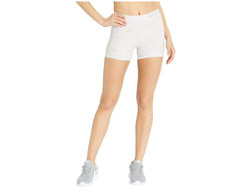 3d261dc5330e Nike Pro Shorts Metallic (Vast Grey Atmosphere Grey) Women s Shorts.  Increase your