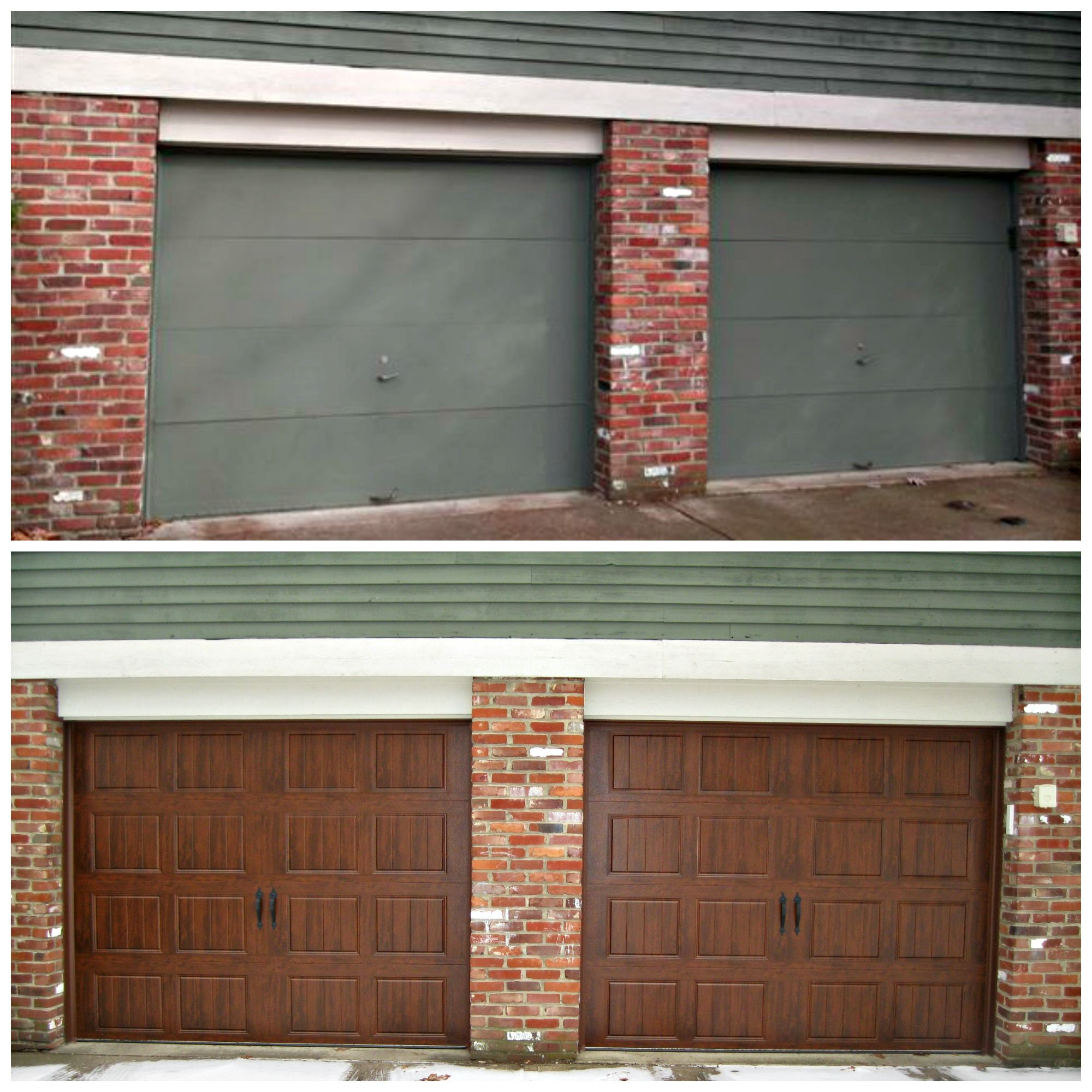 Clopay Ultra Grain Door Gd1su In Walnut Gielgaragedoors