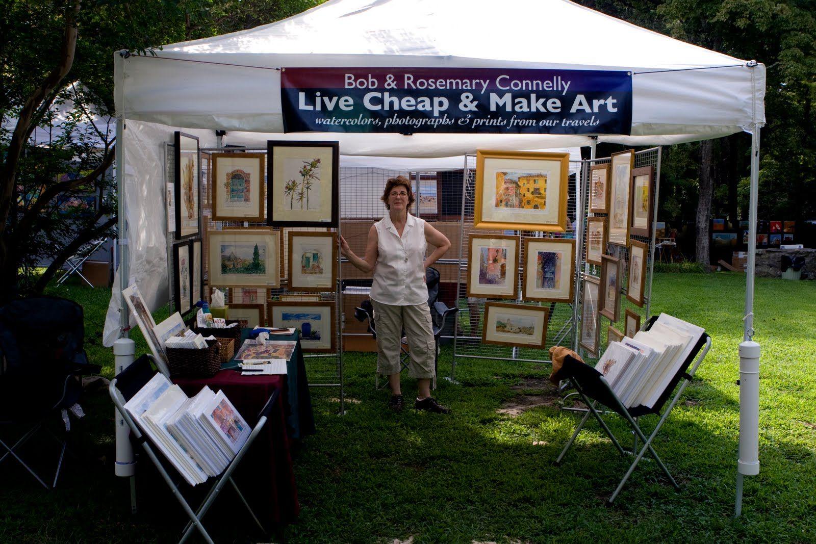 Outdoor Art Show Booth Ideas
