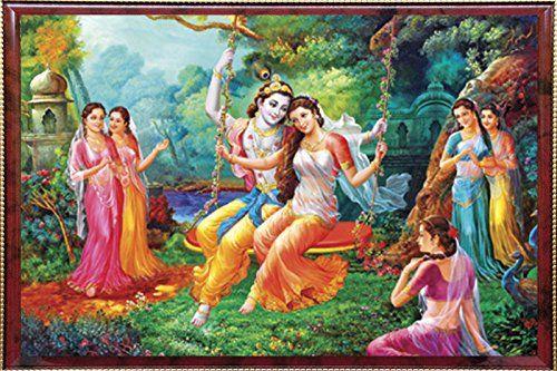 Krishna Radha On Jhula Krishna Krishna Pictures Krishna Radha