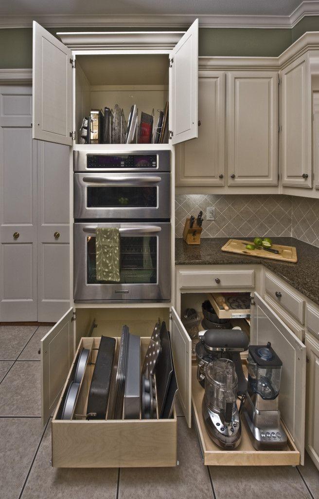 Alluring Kitchen Cabi Organizer Idea With White Cabi Brown | new ...