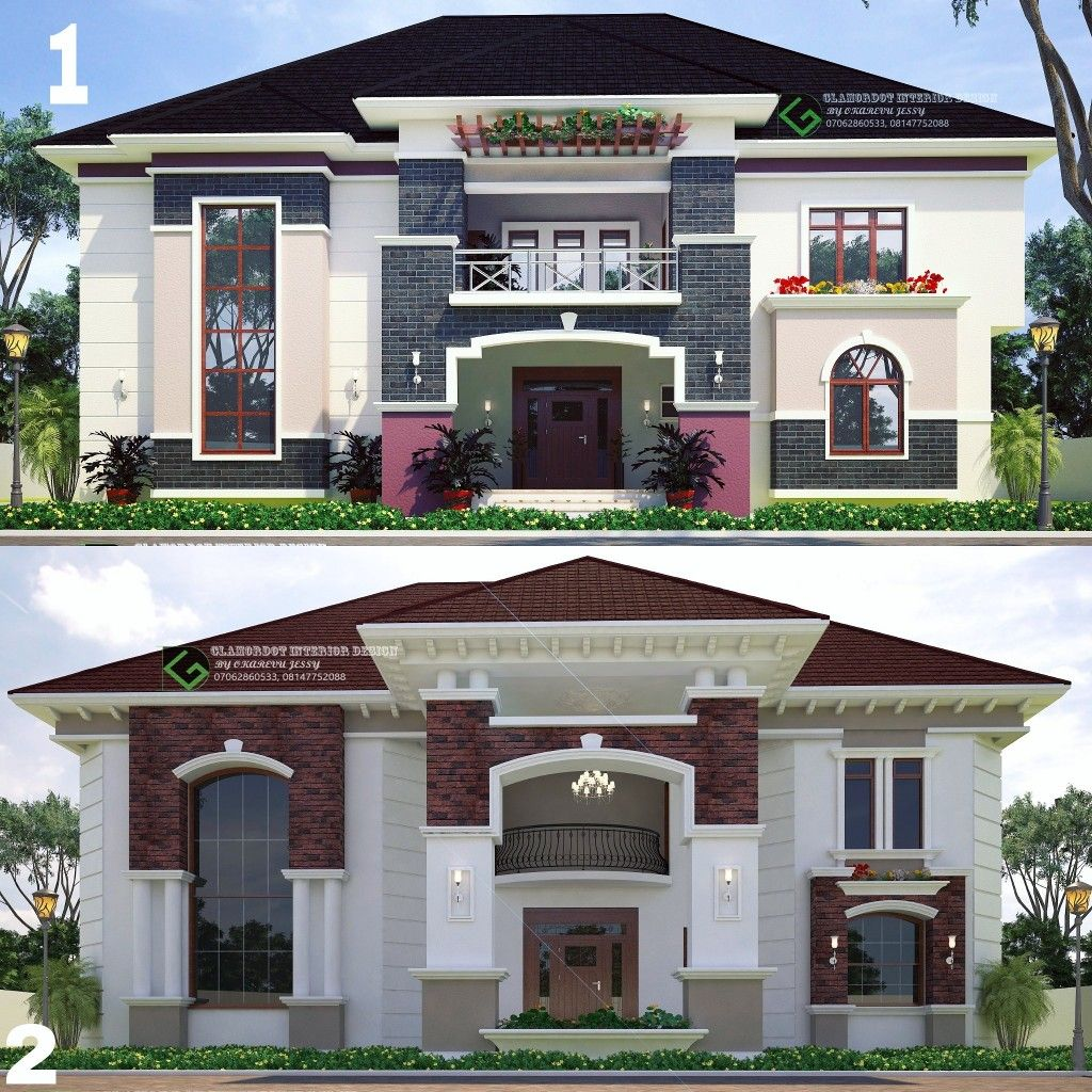 4 Bedroom Duplex Design Option 1 And 2 For Inquiries Call 07062860533 Whatsapp 08063464475 Gla Duplex Design Architectural House Plans House Plans Mansion