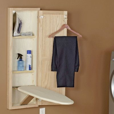 Household Essentials Stowaway In Wall Ironing Board Finish