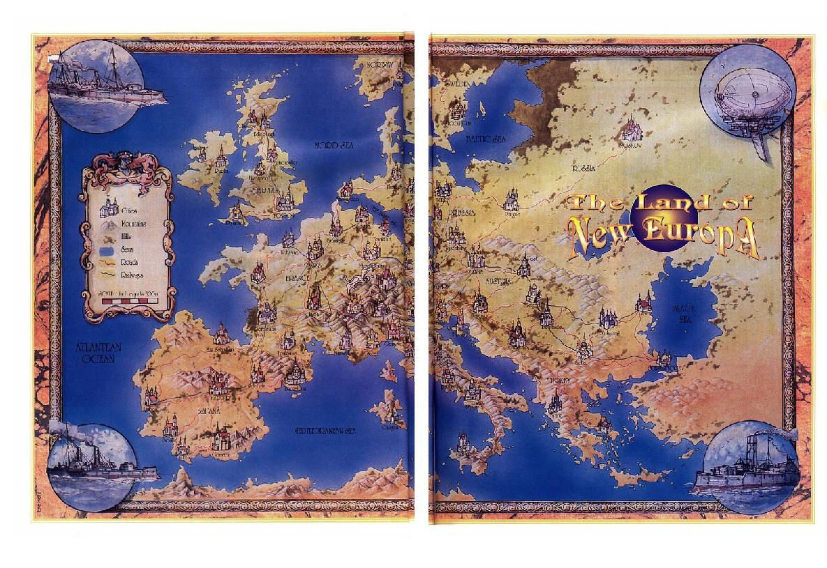 The land of new europa castle falkenstein game fantasy maps redraw the map of europe gumiabroncs Choice Image