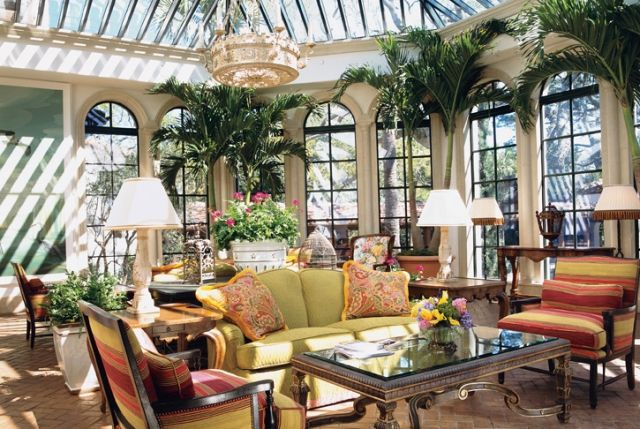 Conservatories Sunrooms With Plants Colorful Garden Room