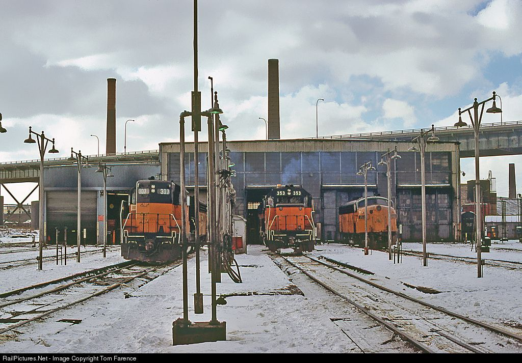 RailPictures.Net Photo: MILW 353 Chicago, Milwaukee, St. Paul & Pacific EMD GP38 at Milwaukee,WI.., Minnesota by Tom Farence