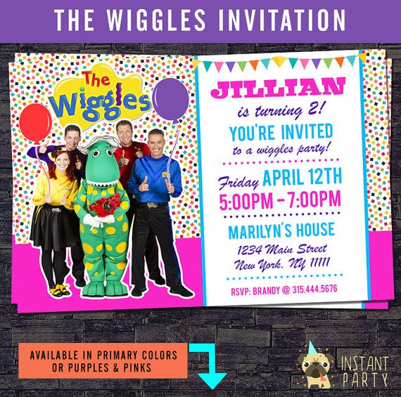 The Wiggles Birthday Invitation Emma Dorothy By Instantparty