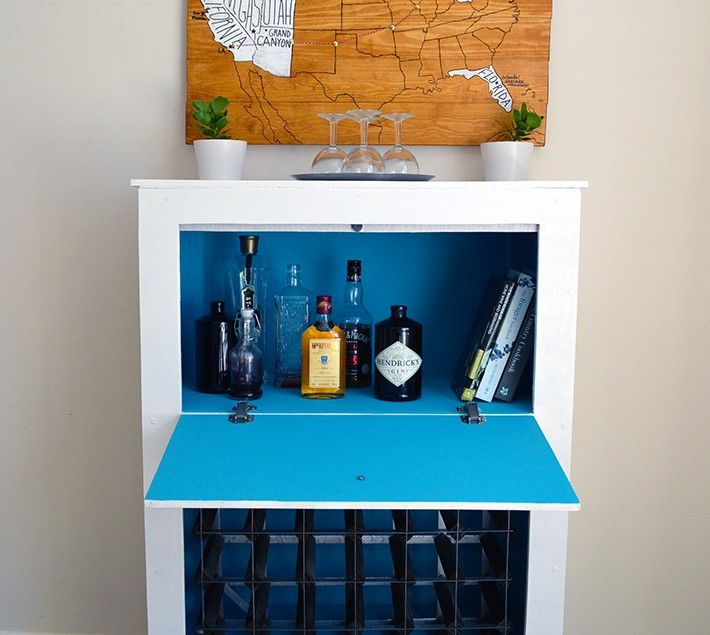 How To Build A Mid Century Modern Wine Liquor Cabinet