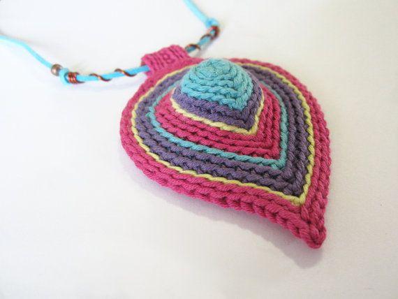 Häkeln Halskette Faser-Halskette häkeln von GiadaCortellini auf Etsy ...