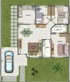 Plano De Casa Muy Linda Con 3 Dormitorios Y 95 M2 2