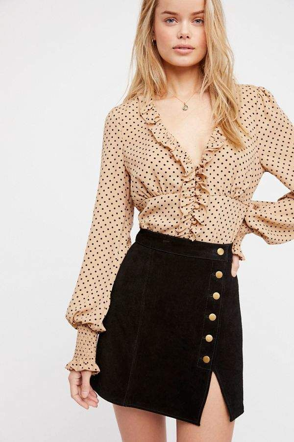 d930b5bc Understated Leather Understated Suede Mini Skirt in 2019 | Leg ...