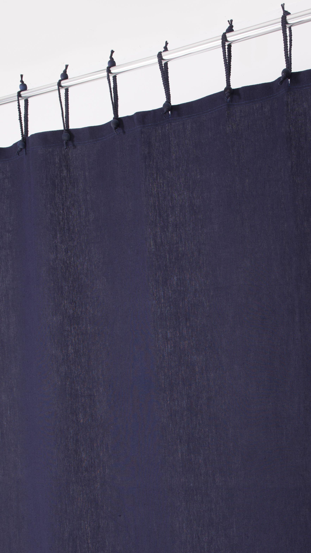 These Beautiful Indigo Hemp Curtains Make Great Hemp Shower