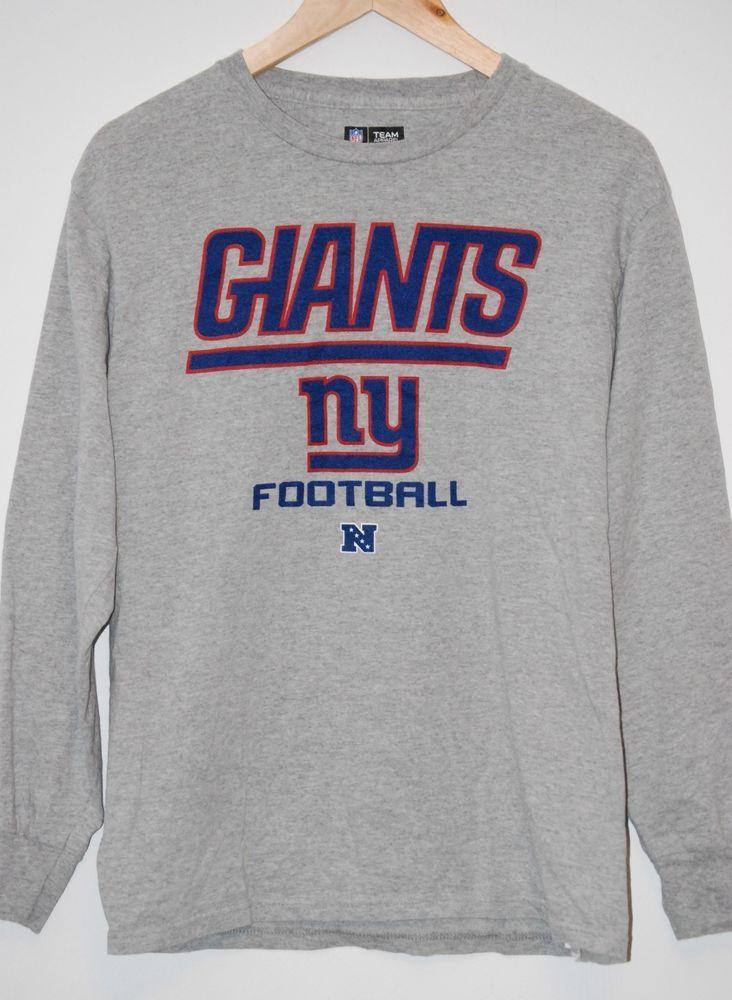 New york giants football long sleeve tshirt gray nfl team