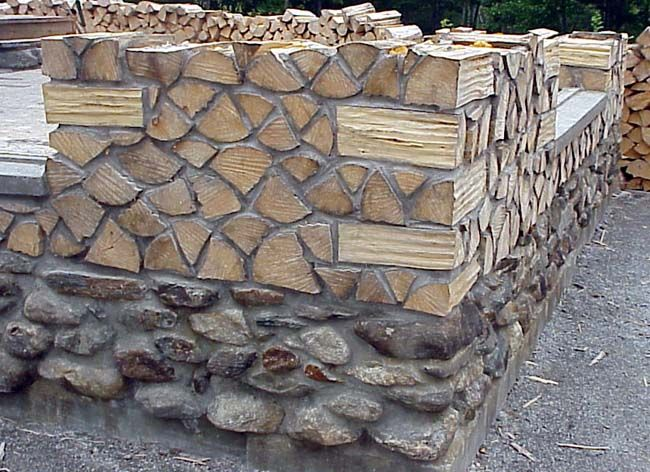 Cordwood Castle in Maine | Corner, Logs and Cabin