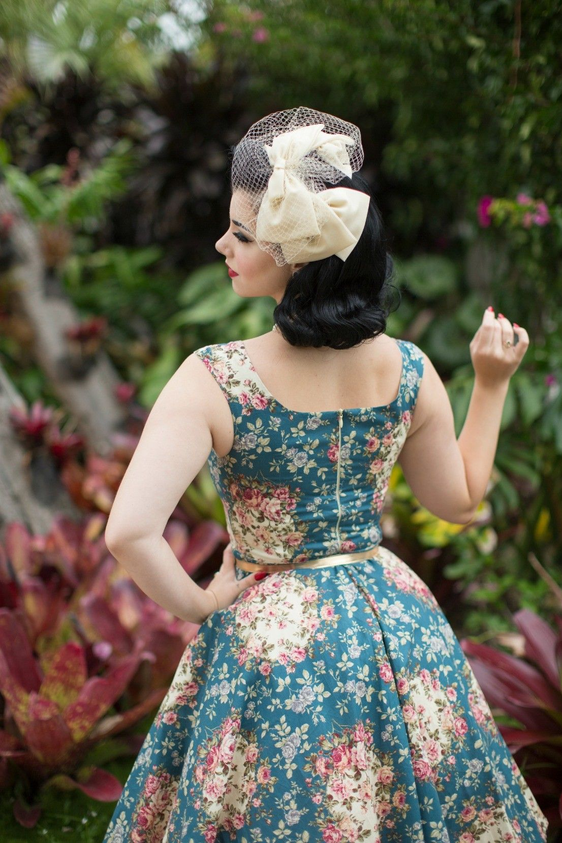 1950s style dress | vintage inspired | pigtails and pirates