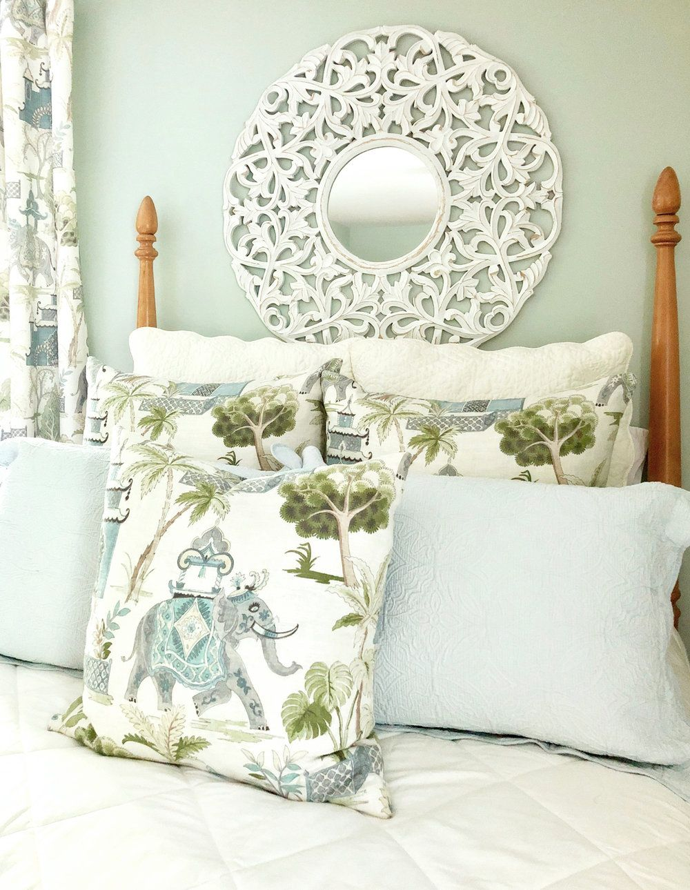 Guest Bedroom Retreat Bedding Pillows Curtains Beth Hart Designs