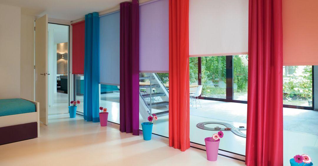 Rolgordijnen Slaapkamer 10 : Rolgordijnen voor bijvoorbeeld een baby of kinderkamer gekleurde