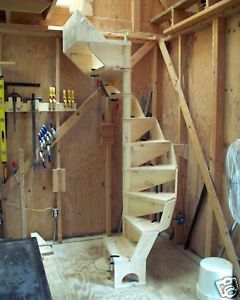 Really Need This In My Garage To Access The Attic Which I Use For Storage A Ladder Just Isn T Safe To Us Spiral Staircase Plan Tiny House Stairs Diy Staircase
