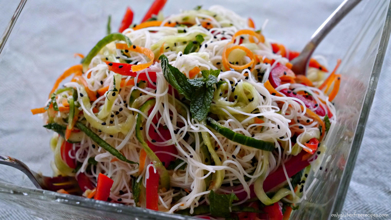 Glutenfree vietnamese rice noodle salad recipe rice
