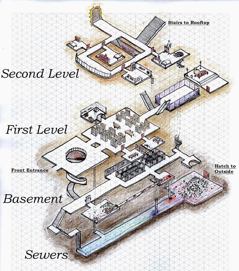 The Dungeon World Tavern - Community - Google+   isometric maps