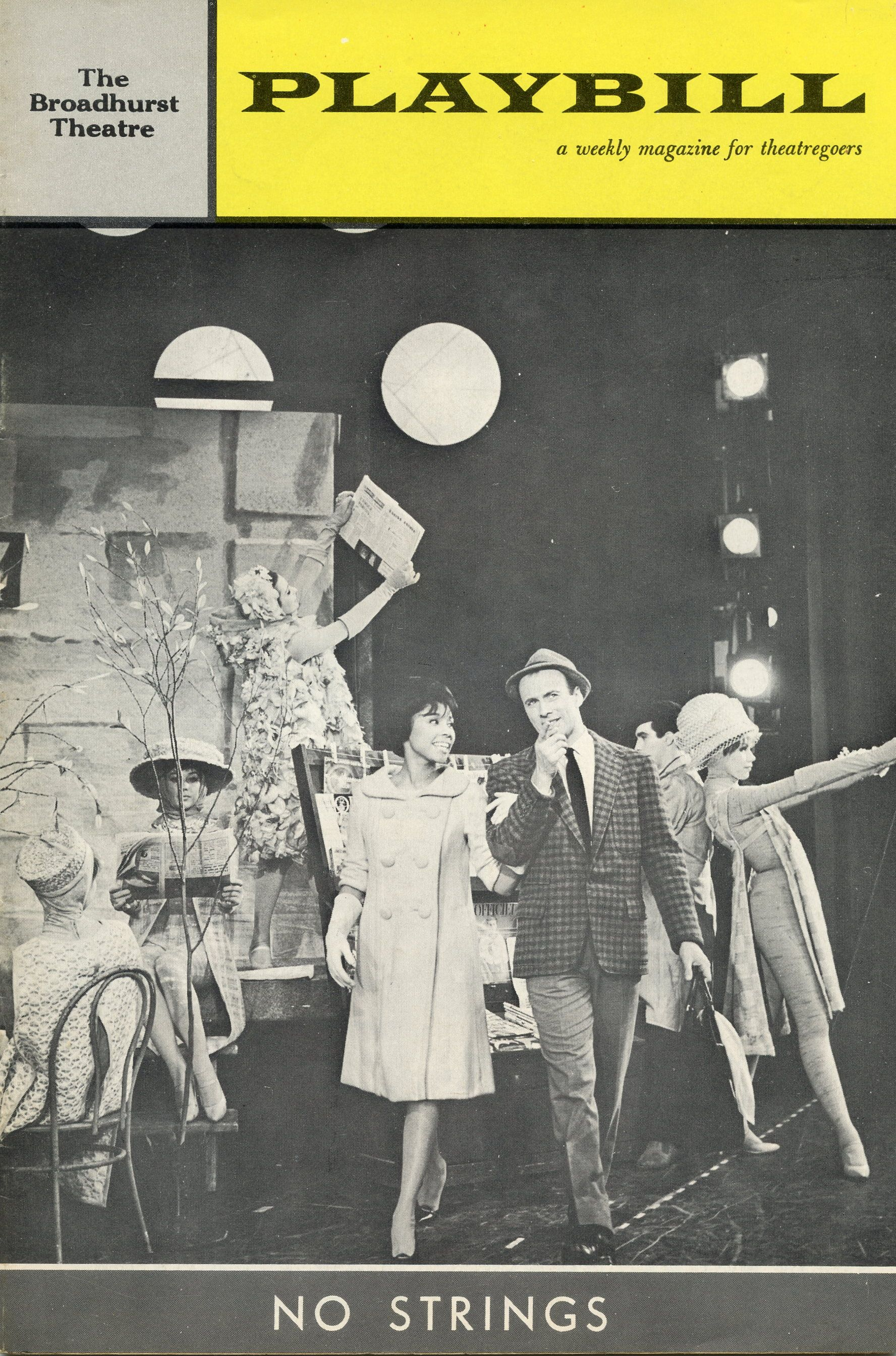 1962 no strings diahann carroll broadway plays playbill