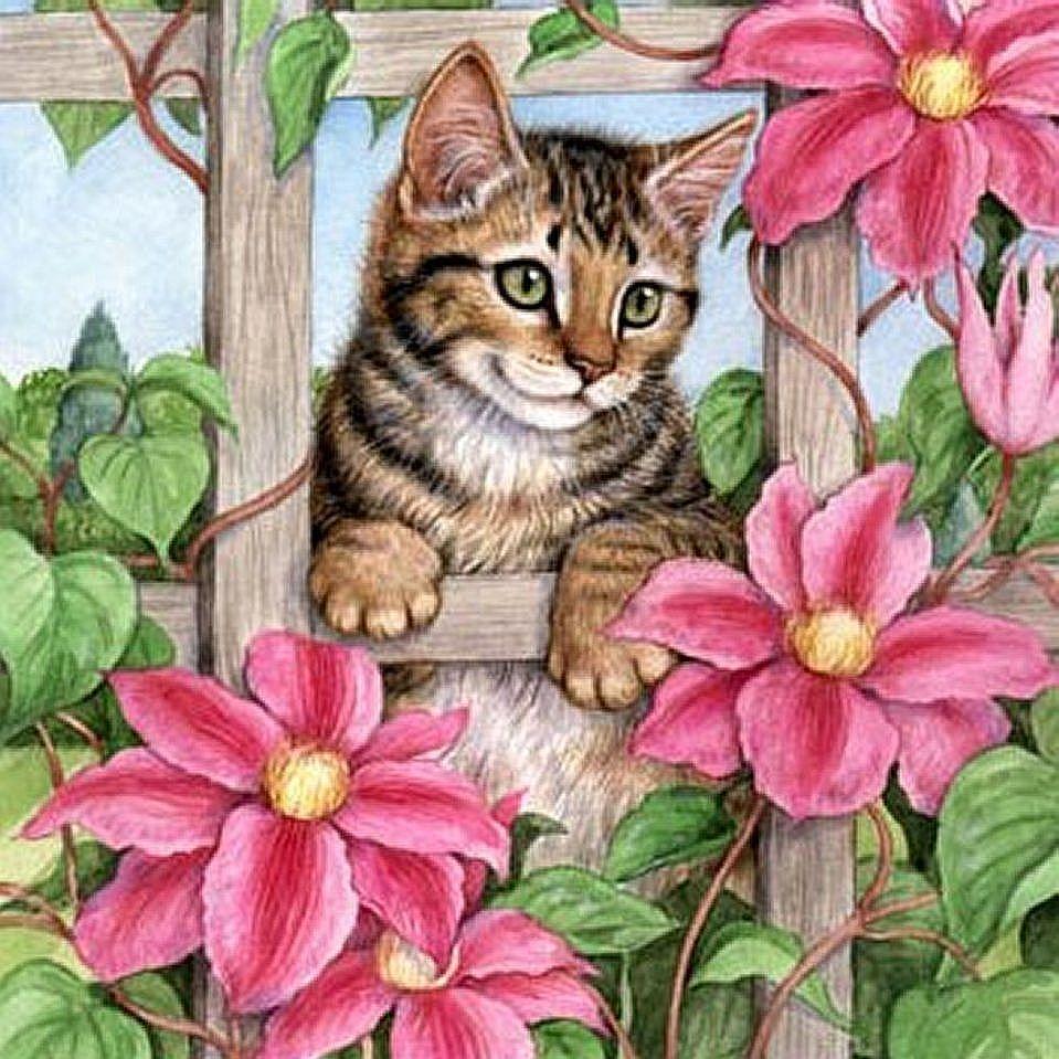 Коты в картинках для декупажа