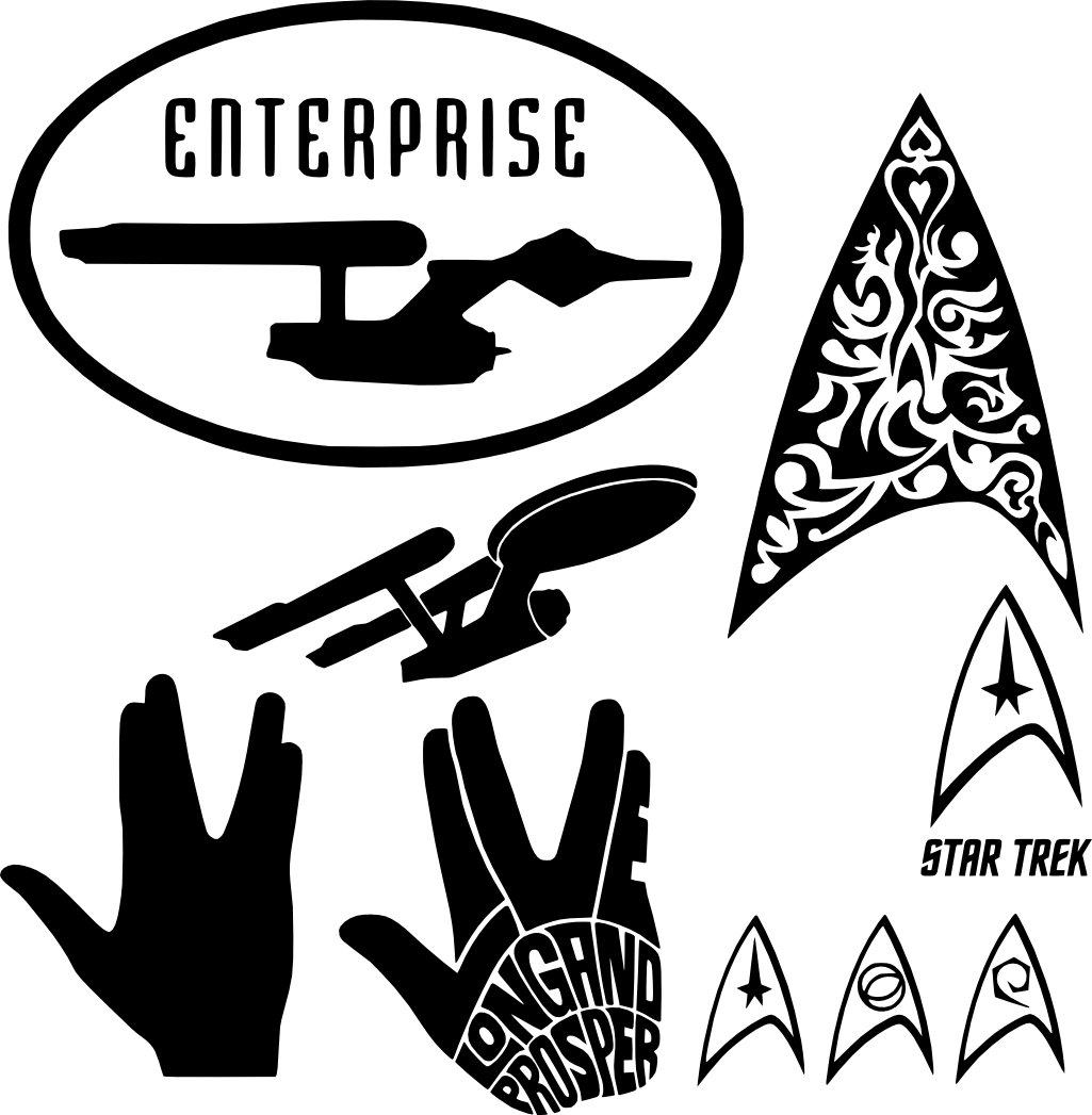 SVGS for Geeks! Cricut svg files free, Star trek