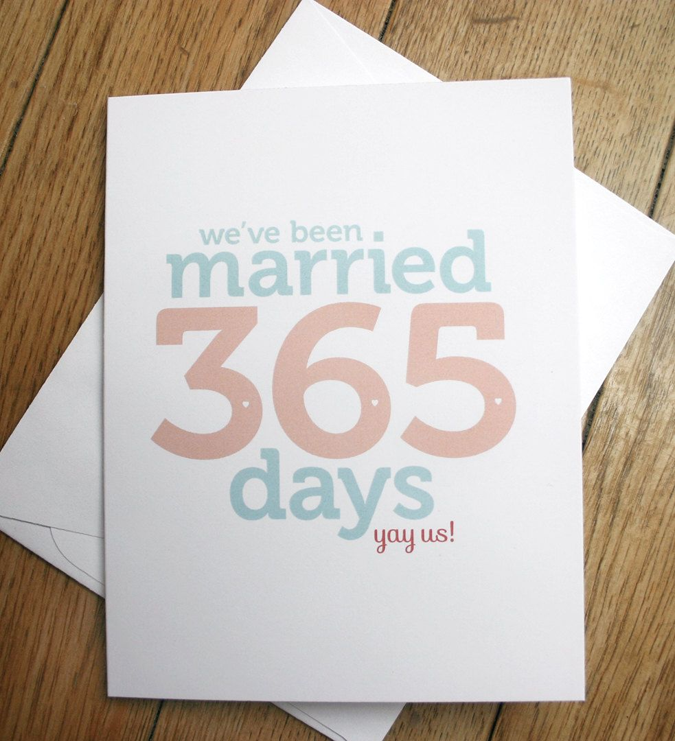 First Wedding Anniversary Card 4 00 Via Etsy