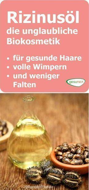Rizinusöl - Biokosmetik für gesunde Haare, Wimpern und weniger Falten | gesunex