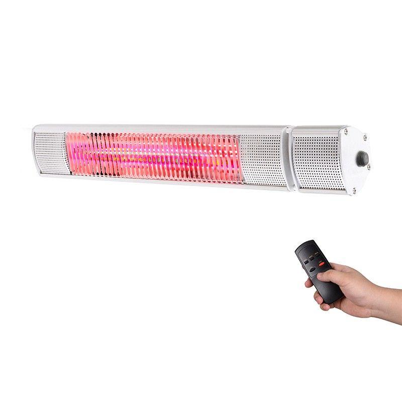 2500 W TROTEC Radiant infrarouge /électrique IR 2500 S Parasol Chauffage /électrique Infrarouge Radiateur Radiant Halogene mural pour Terrasse de Jardin Exterieur Table /à langer ou Salle de Bain